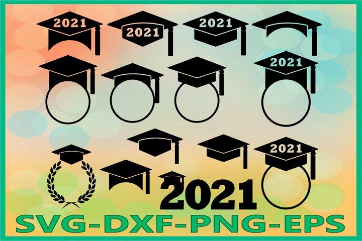 Graduation 2021 SVG, Graduation Hat, Graduation Caps