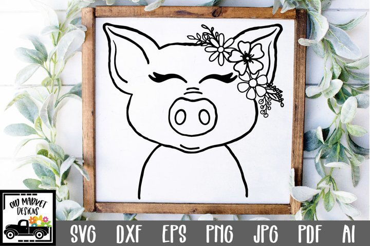 Pig SVG File - Cute Pig Face SVG Cut File