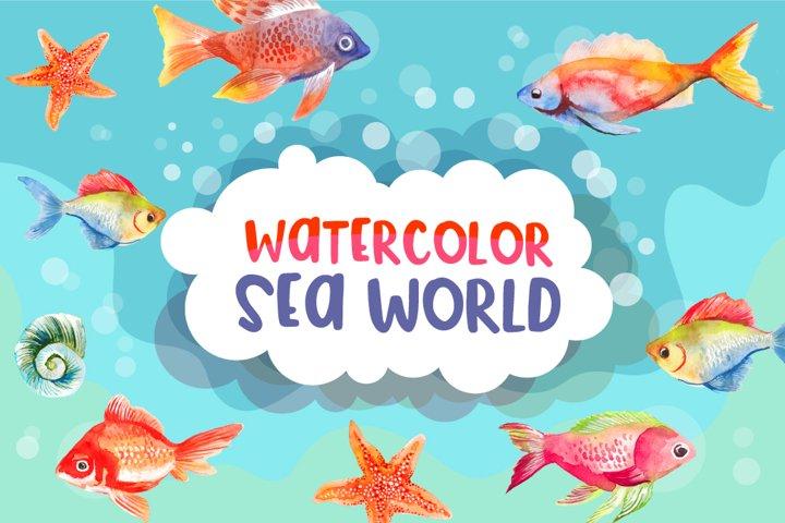 Watercolor Sea World Sublimation Bundle