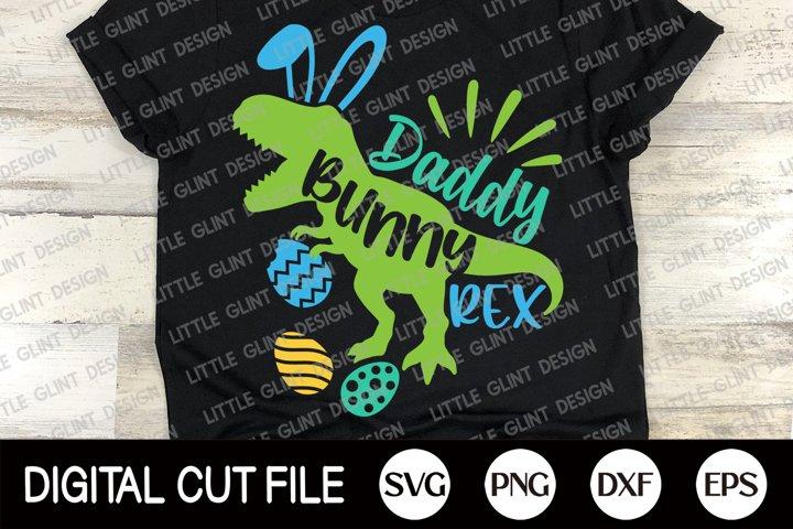 Easter Bunny Dinosaur Svg, Daddy Bunny Rex Svg, Dad Shirt