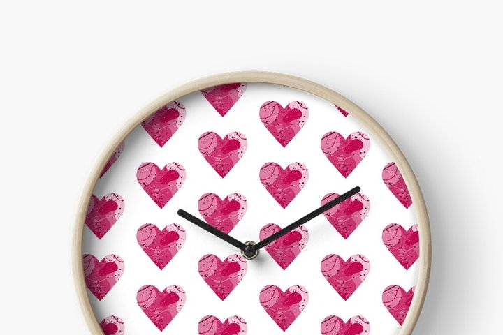 Pink abstract heart. Symbol of love. Valentine's day SVG example 1