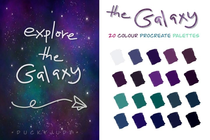 The Galaxy Procreate Color Palettes