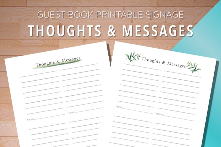 Guest Book Printable Signage