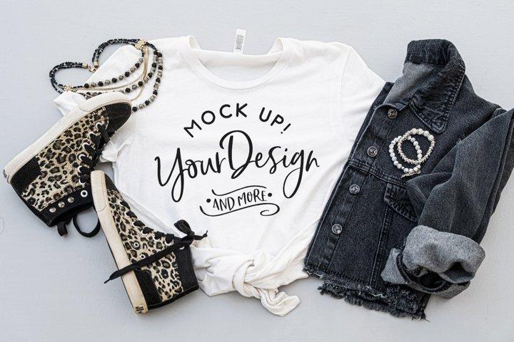 Shirt Mockup - Bella Canvas 3001 white