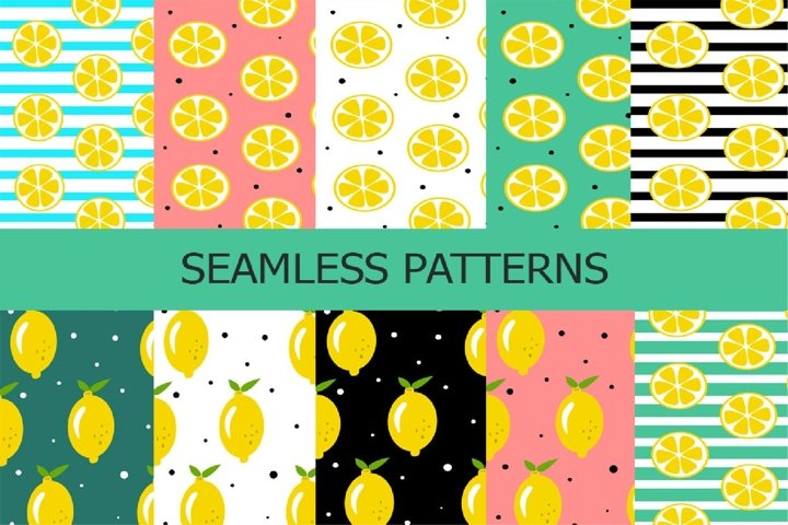 Fresh, juicy lemon pattern.