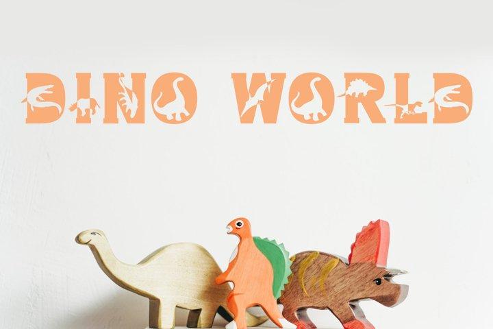 Dino World - Dinosaur Font