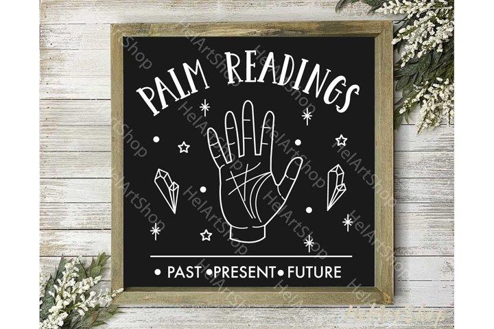 Palm readings svg, Halloween decor svg, Rustic svg