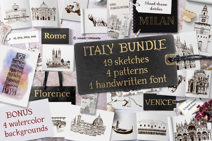 Italian sketches bundle