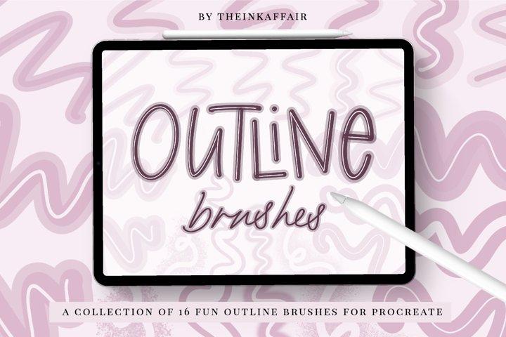 Outline procreate brushes bundle