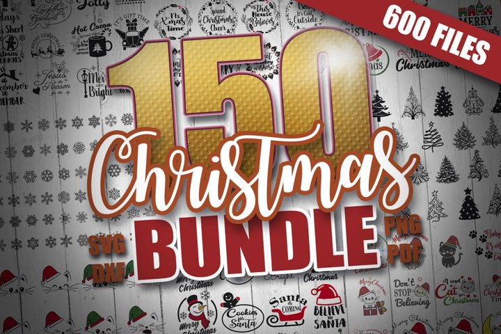 150 SVG Christmas Bundle, Cricut Ideas, Christmas SVG