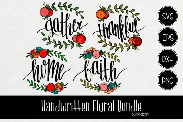 Handwritten Floral Bundle (Valued at $16)