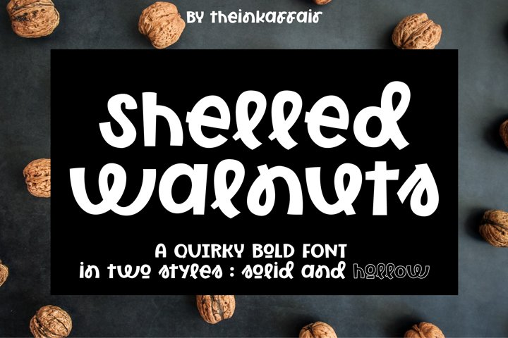 Shelled Walnuts, solid and hollow cuttable font