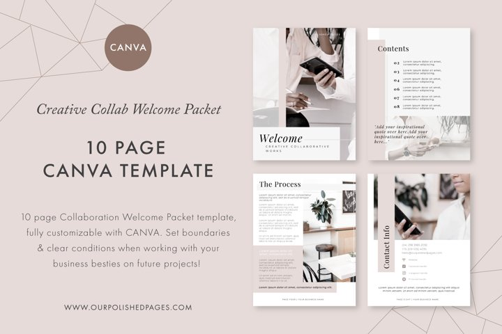 Welcome Packet Canva Template