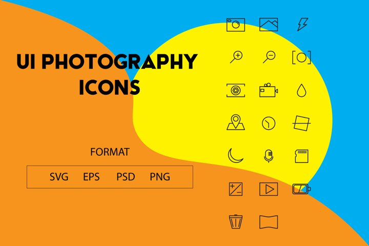 UI Photography icons