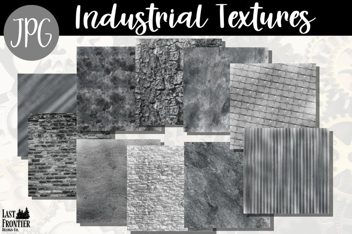 Industrial texture papers