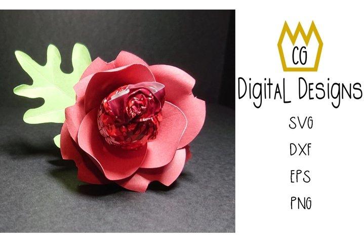 3D Lollipop Poppy - Valentine Birthday Teacher - SVG DXF EPS