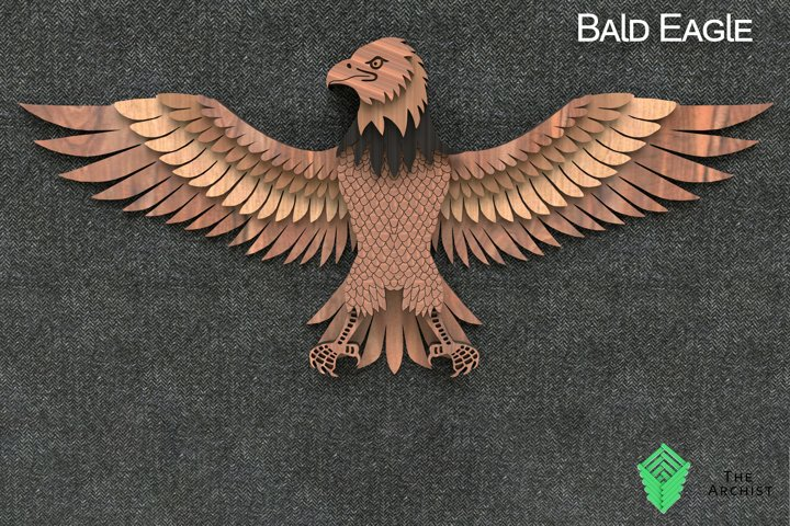Multilayered svg, Bald Eagle 2, Eagle art