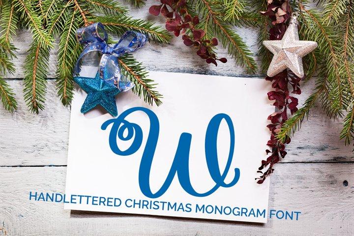 Joyful Monogram - Christmas Monogram Font