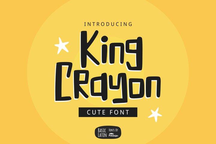 King Crayon Font