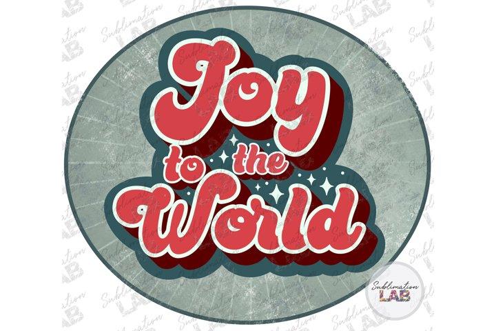 Christmas Retro Joy To The World Sublimation Design Png