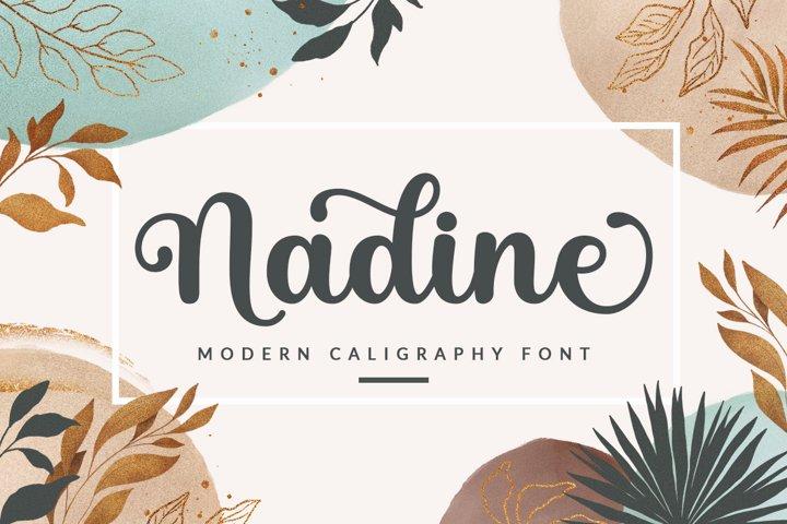 Nadine Script Font