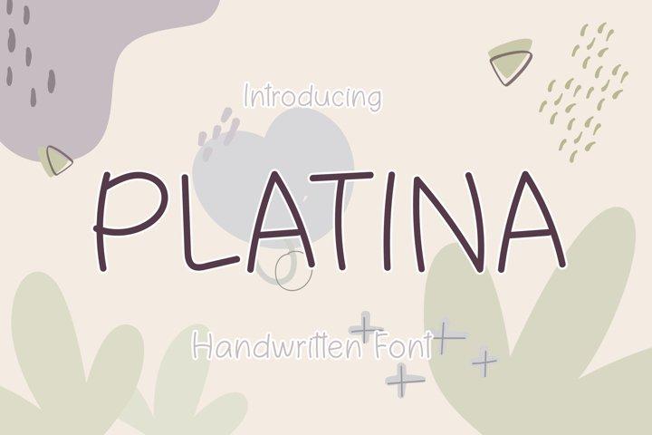 Platina - A Cute Handwritten Font