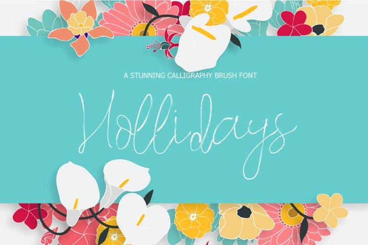 Hollidays Calligraphy Brush Font