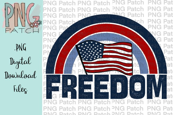 Freedpm Flag, Fourth of July PNG File