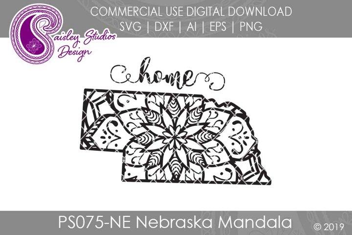 Mandala Nebraska Home SVG DXF Ai EPS PNG