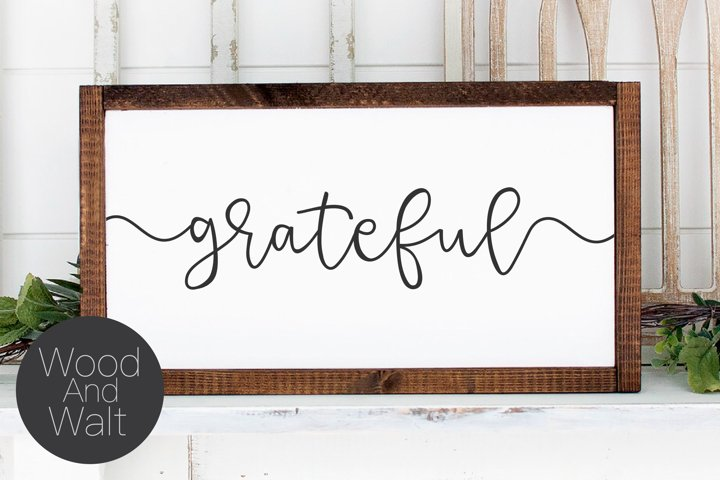 Grateful SVG | Thanksgiving and Autumn Cut File