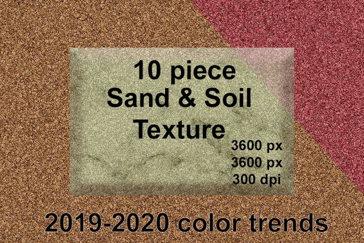 10 pieces Sand and Soil efect texture design