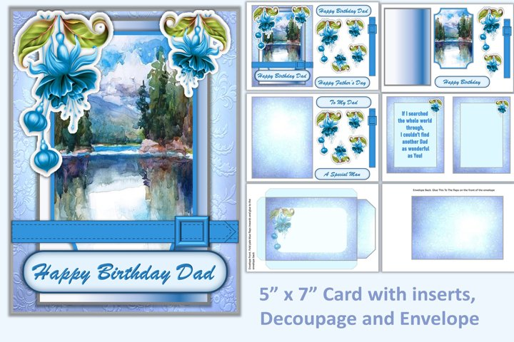 Male Birthday Card Kit with all Clipart JPEG and PNG