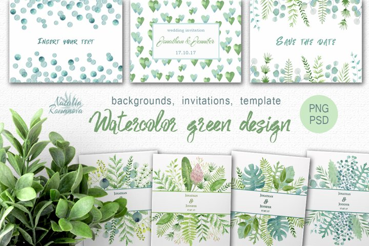 Watercolor green design