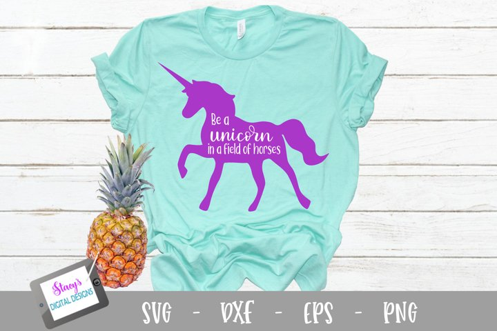 Unicorn SVG - Be a unicorn in a field of horses example