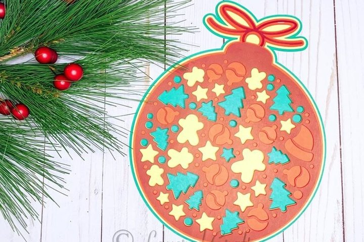 3D Layered Christmas Ornament Digital Cut File