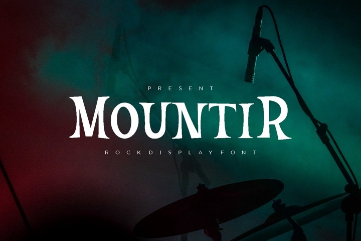 Mountir - Rock Display Font