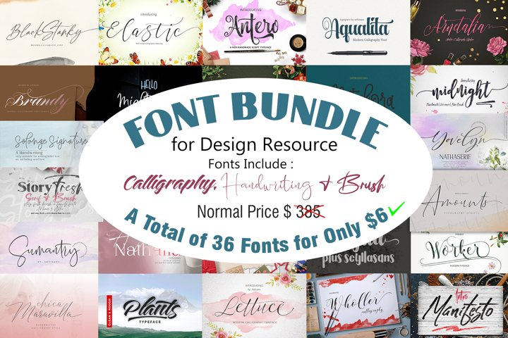 FONT BUNDLE for DESIGN RESOURCE