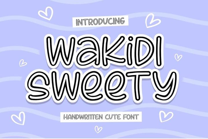 Wakidi Sweety - Cute Font