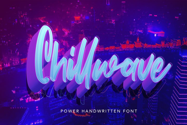 Chillwave - Cool Script Fonts