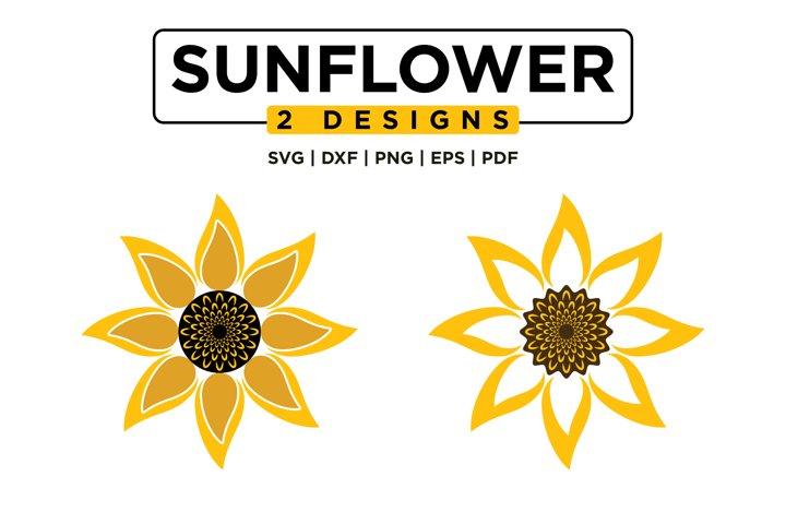 Sunflower SVG Bundle, Sunflower Monogram SVG Mini Bundle