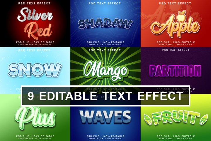 Editable Text Effects
