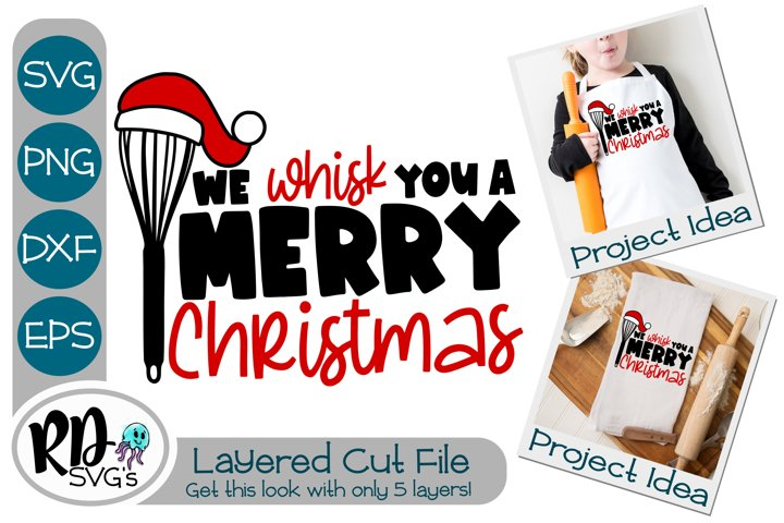 We Wisk You a Merry Christmas - A Layered Cricut Cut File