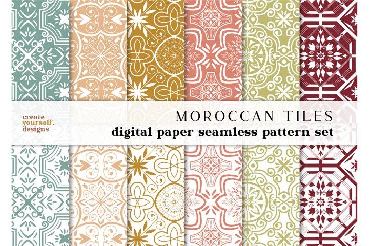 Moroccan digital paper - hand drawn seamless pattern
