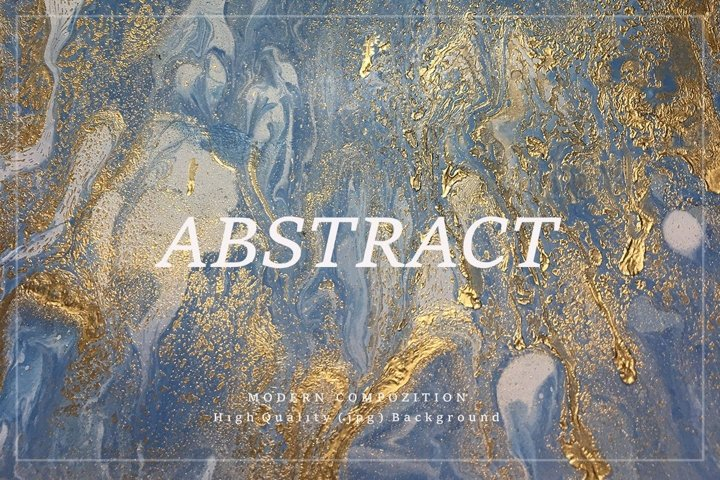 Abstract Background - Handmade Gold Acrylic Paint