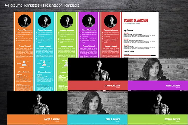 A4 Resume Templates Word