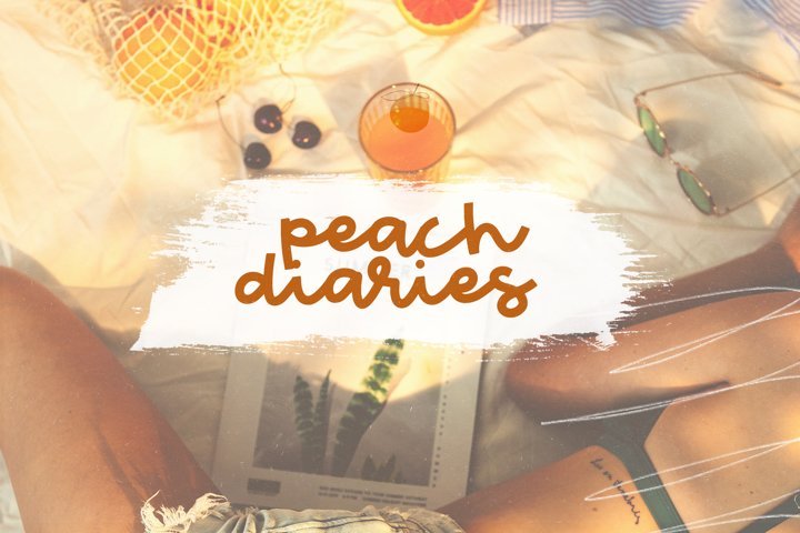 Peach Market - A Handwritten Script Font - Free Font Of The Week Design5