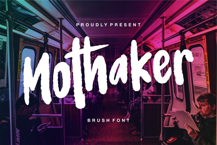Mothaker - Brush Font