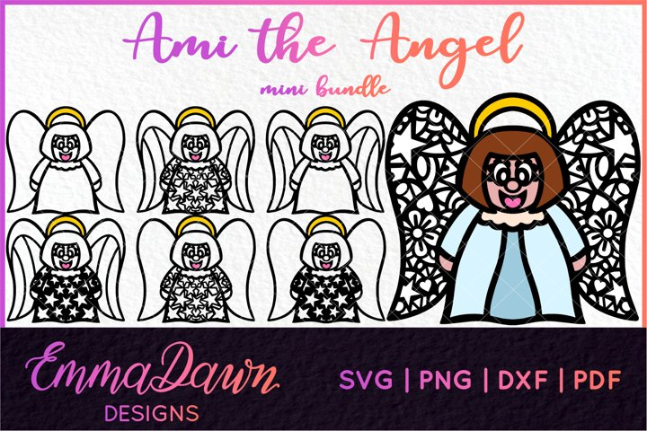 AMI THE ANGEL SVG MINI BUNDLE 7 DESIGNS