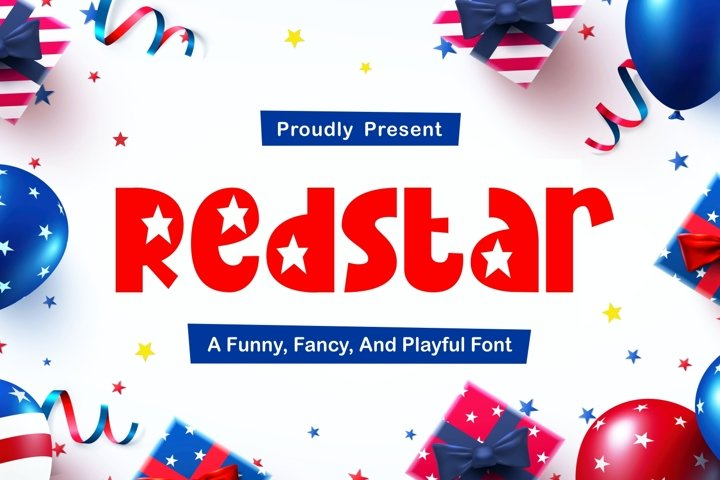 Redstar - Fancy and Funny Font