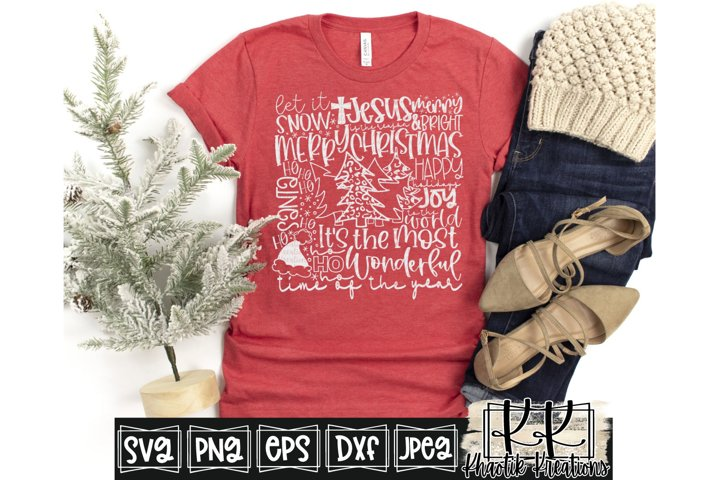 Christmas Subway Art Svg, Christmas Svg Design, Let it Snow